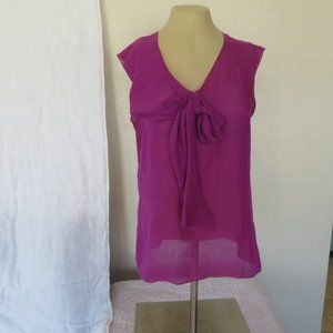 Pre-Owned Ann Taylor Loft Sheer Sleeveless Top